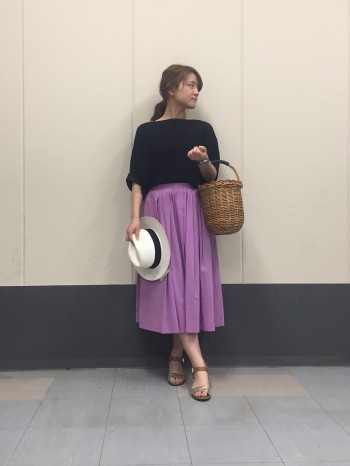♡portcrosクリアーボイルタックギャザースカート♡