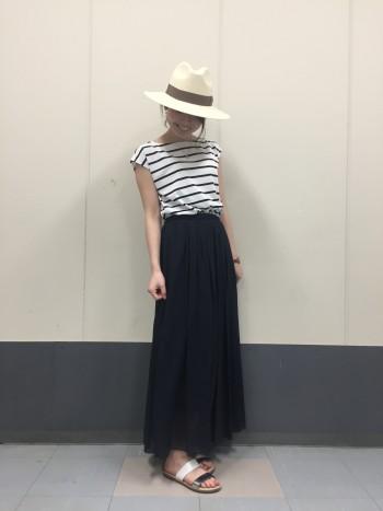 ギャザーロングスカート♡