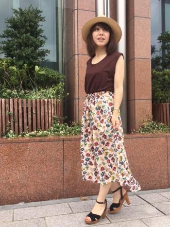 ★フラワープリントスカート★