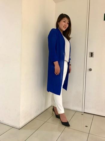 ★ホワイト×ブルーコーディネート★