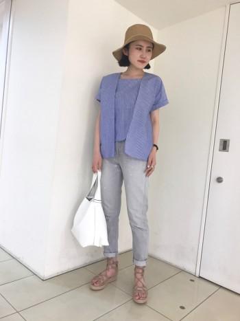 定番☆シャツ×デニムコーデ