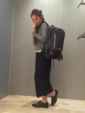 女性にも人気のバッグパック