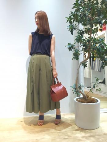 ◆スカート風パンツで涼しく快適に◆