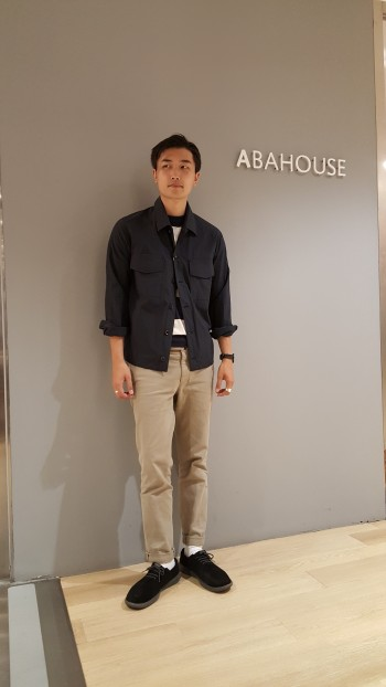 ABAHOUSE  navy×beige