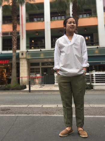 Vネックシャツ プルオーバー ★ABAHOUSE★