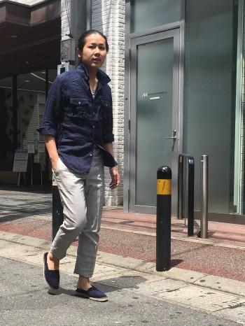 リネン平織りスタンドシャツ ★ABAHOUSE★