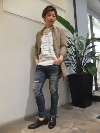 新作ロングシャツスタイル