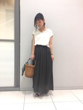 新色★ギャザーロングスカート