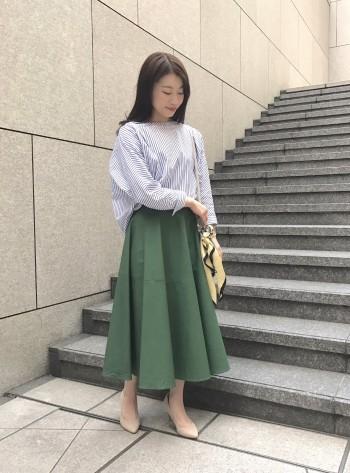 お洒落度UP!新作ミモレ丈スカート♡