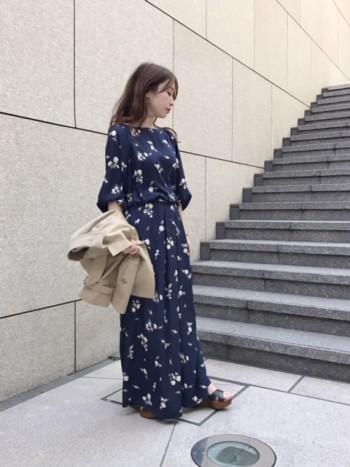 春の小花柄コーディネート♡セットアップ編