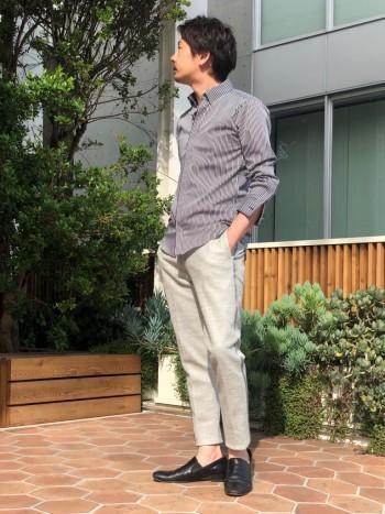 5351ディレクターがおくるサマーブレード。夏向きなきれいめパンツ。 着用イメージや雰囲気はこちらhttps://abahouse.jp/mens/coordinate/255829