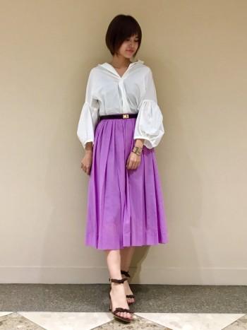 ♡クリアーボイルタックギャザースカート♡