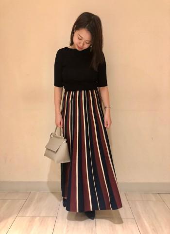 秋カラースカート♪