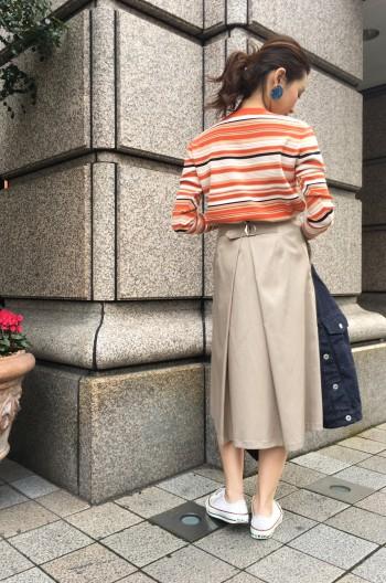 タンブラーサテンスカート