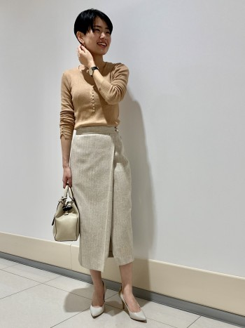 スカートのようなパンツなので履き心地抜群です! サイズは普段のサイズ感でぴったりでした!!
