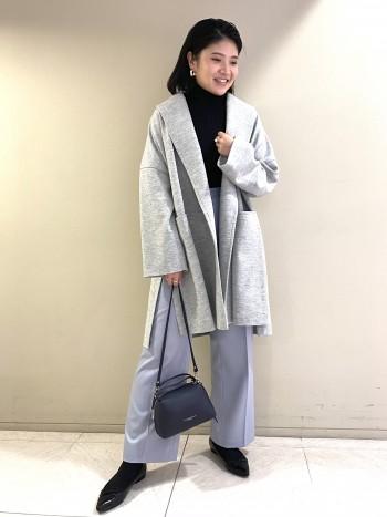 【池袋西武店】一枚着でもレイヤードにも使いやすく、肌あたりが良いのもポイントです。