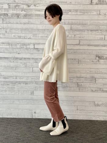 【池袋西武店】一枚着でも着映えするデザインでウール混なので秋冬で長く活躍しそうです。