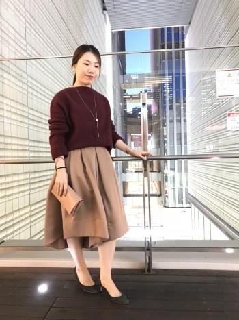 女子会に♡フレアスカート見えパンツ