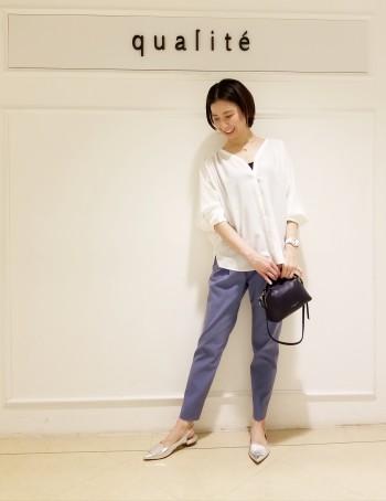 【京都髙島屋】普段34or36のサイズですが、ウエストゴムなのでウエストも大きすぎず穿けます!フィット感をお求めの方はサイズを下げて穿いていただいても良いです!