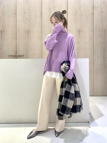 丈感がちょうどよく、細身でもワイドでもスカートでも合わせやすいです!