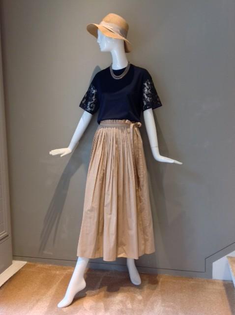 新作オリジナル 綿フレアロングスカート