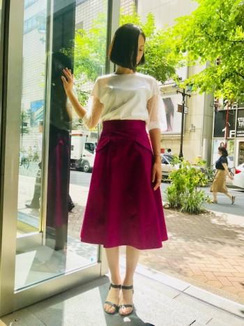 コットンサテンスカート