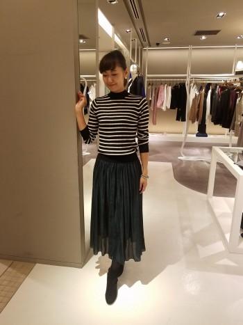 ブライトオーガンジーサテンスカート