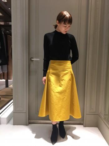 新作★グログランフレアスカート