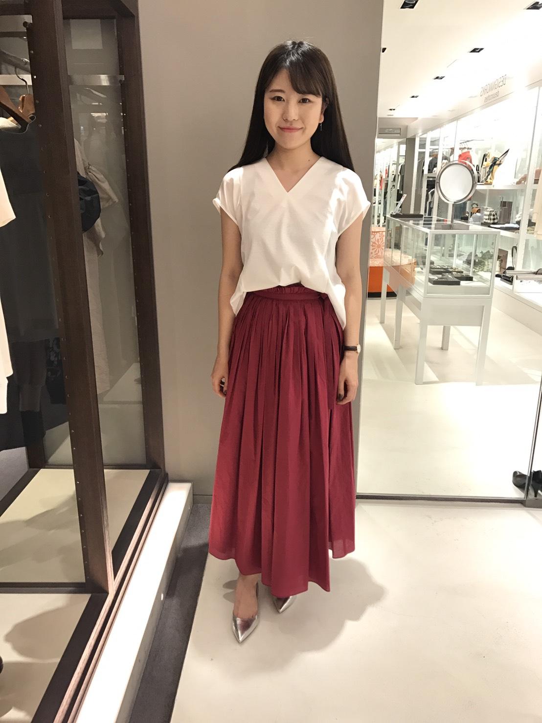 新作★綿フレアロングスカート