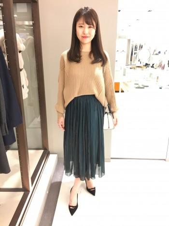 新作★ブライトオーガンジーサテンスカート