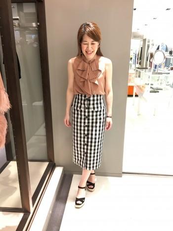 新作★チェックタイトスカート
