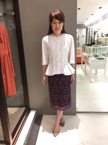 新作★レーススカート