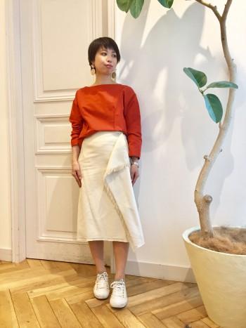 新作◇カットオフラップスカート