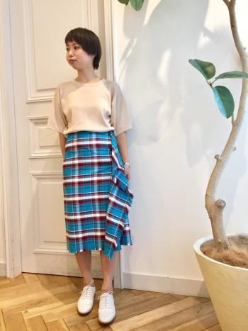 カットオフラップスカート②