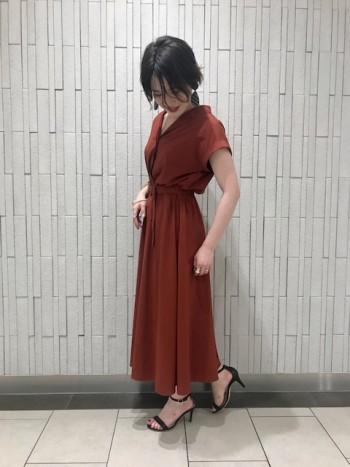 新作☆開襟シャツワンピース