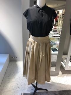 タイプライターギャザースカート