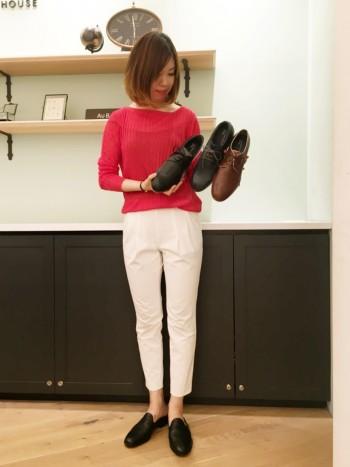 お気軽な革靴もあります