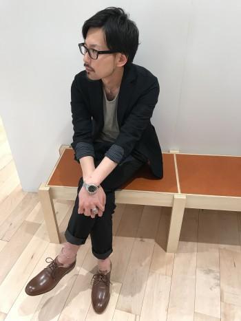 カジュアル革短靴