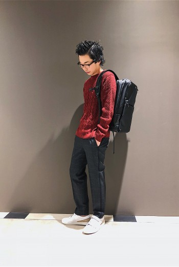 ABAHOUSE TwistCross CREWNEC Knit