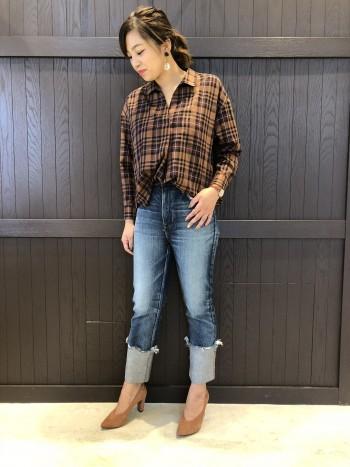 ☆秋色チェックシャツ☆