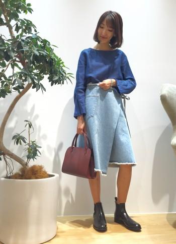 ◆新作!デニムのラップスカート◆