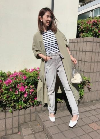 普段のサイズ:35(22.5cm)   着用サイズ:35 普段と同じサイズでピッタリです♪ 安定していてとても歩きやすいです!
