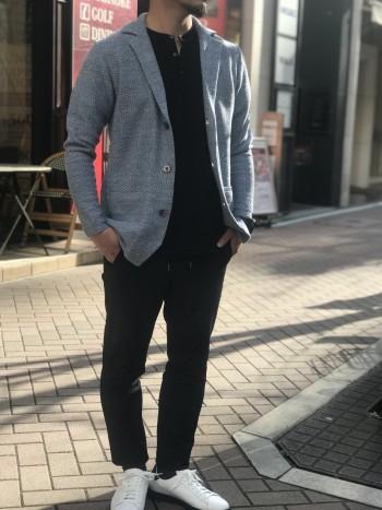 LEON4月号P129掲載ニットジャケット