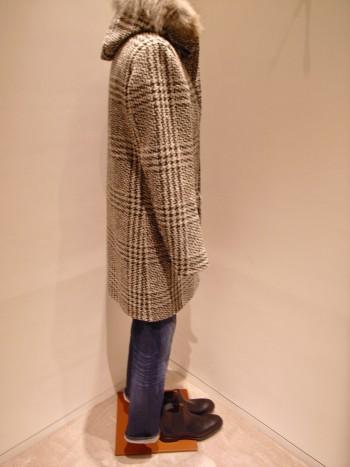 HERNO    Tweed padded coat