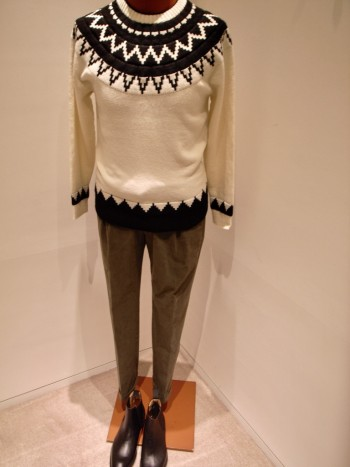 DESIGNWORKS  Nordic pattern knit