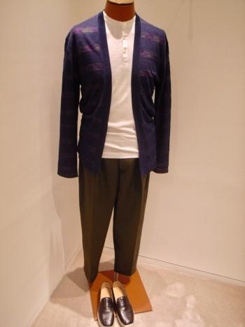 DESIGNWORKS     Linen cross cardigan