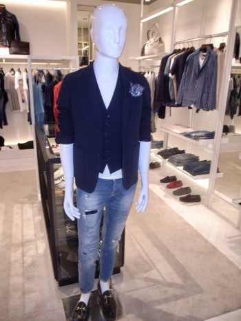 DESIGNWORKS     4way stretch seersucker jacket + gilet