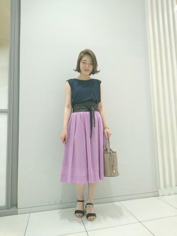 Portcrosクリアーボイルタックギャザースカート★